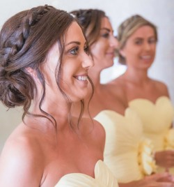 Aguas de Ibiza wedding , bridesmaids hair by Kinga Evans , photo credit www.mattmorganphotography.com