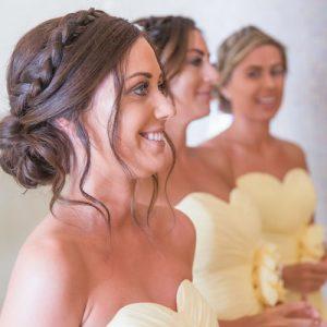 Aguas de Ibiza wedding , bridesmaids hair by Kinga Evans