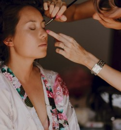 Ibiza Hair and Make up , total bridal look prep by me  plus extra Bridesmaids , using airbase airbrushed foundation. Location for a wedding at  Experimental Beach - another fab venue on the beach where you can watch the sunset.
