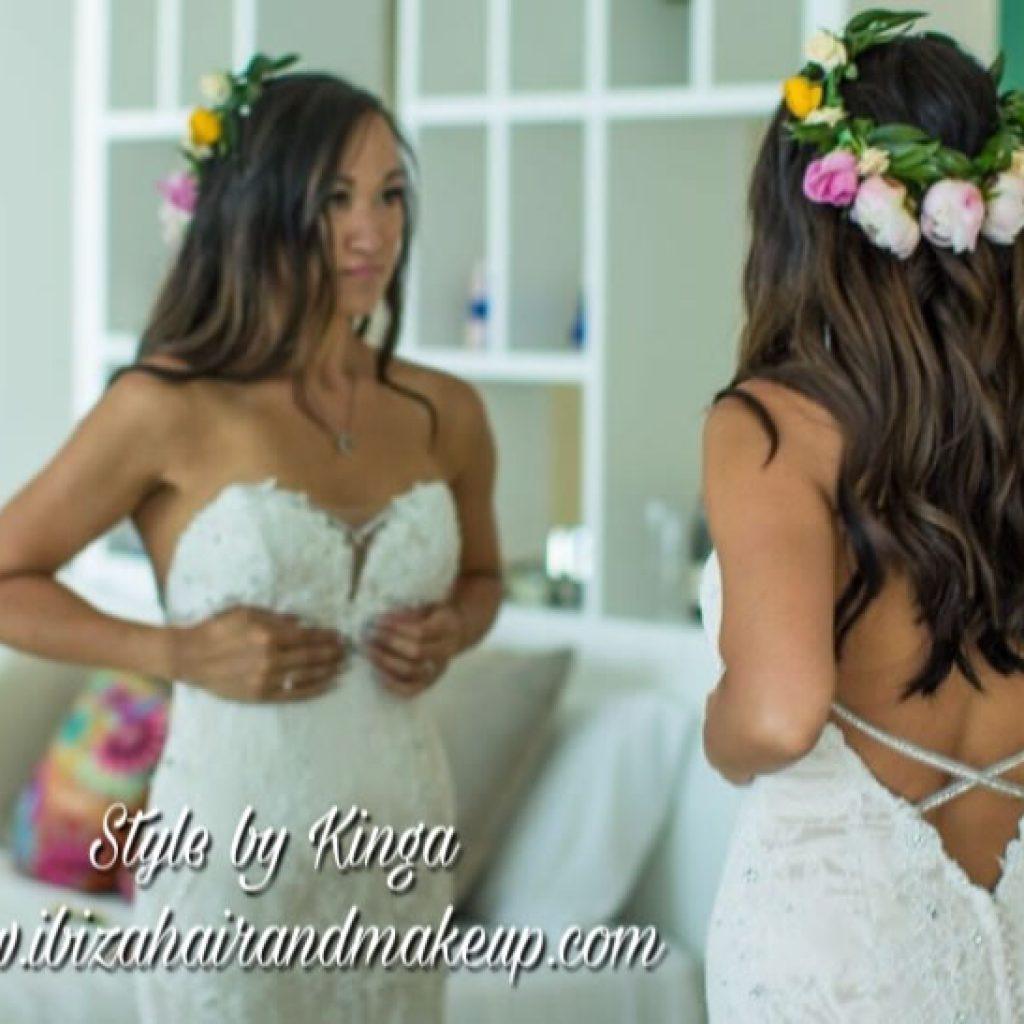 Ibiza Bride by Kinga Evans , wedding prep at Sol beach hotel in Santa Eualia , Ibiza Wedding , Ibiza Wedding shop.
