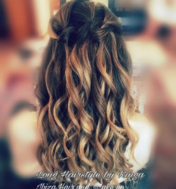 Beautiful Waves , Waterfall Braid ,get ready for the wedding with Ibiza Hair and Make up .