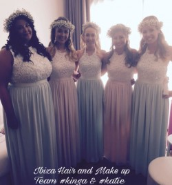 Beautiful Bridesmaids at Grand Palladium in Playa den Bossa .