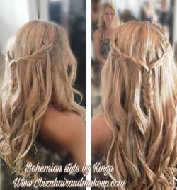 Bohemian Hairstyle at Atzaro Hotel for wedding guests