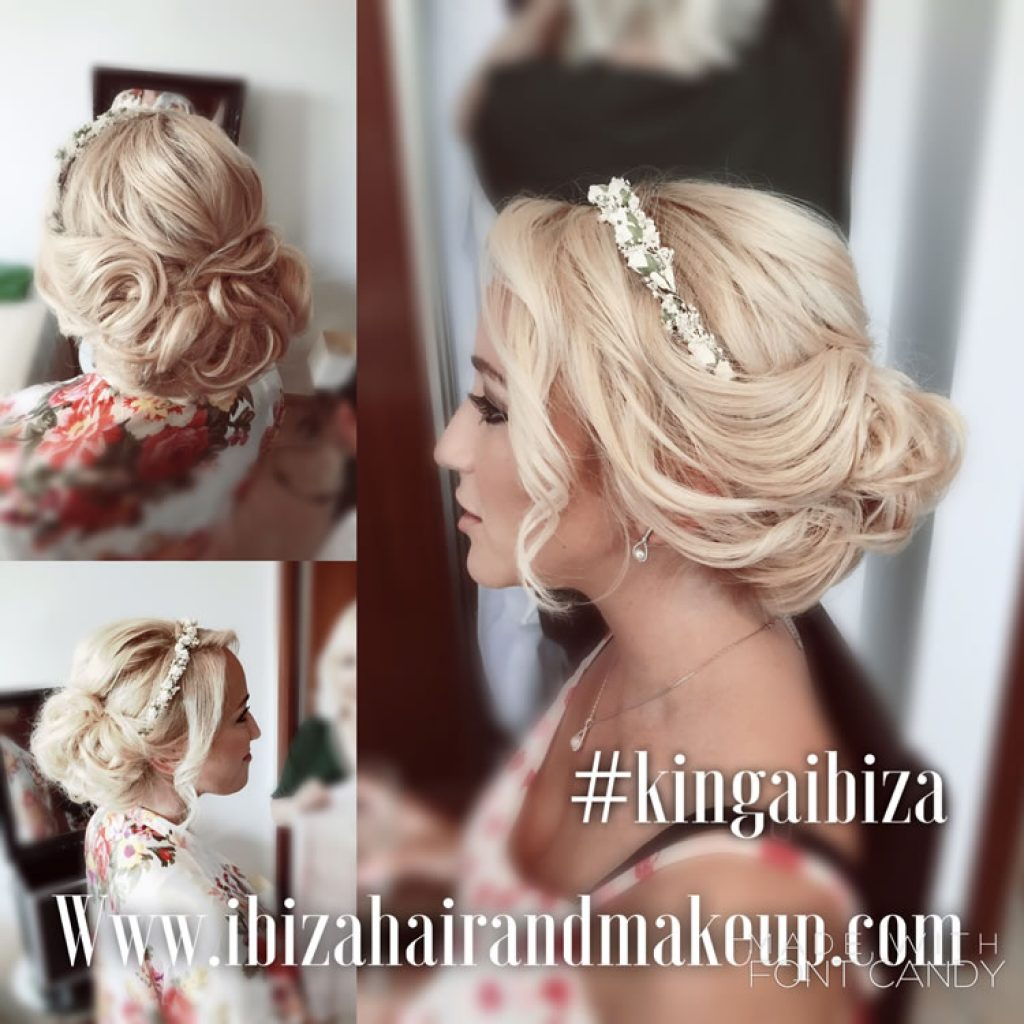Large wedding booking, 5 bridesmaids, mother , flower girls , Ibiza hair and make up team arrived at the villa near Cala Vadella , close to Es Vedra , to make everyone ready for a wedding in Elixir Shore