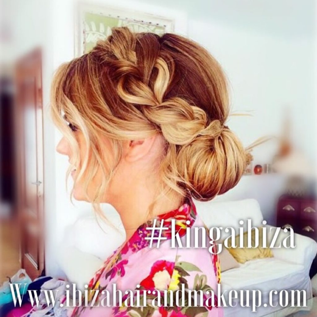 Fat Braids on fine hair , only possible with Kinga at Ibiza Hair and Make up , villa service in Ibiza