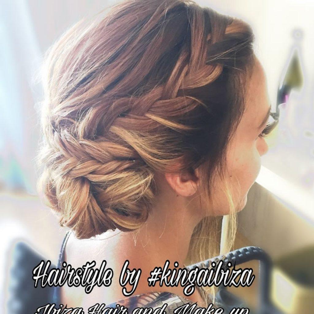Hawaii Hotel San Antonio , Bridal Hair styling by Kinga Ibiza