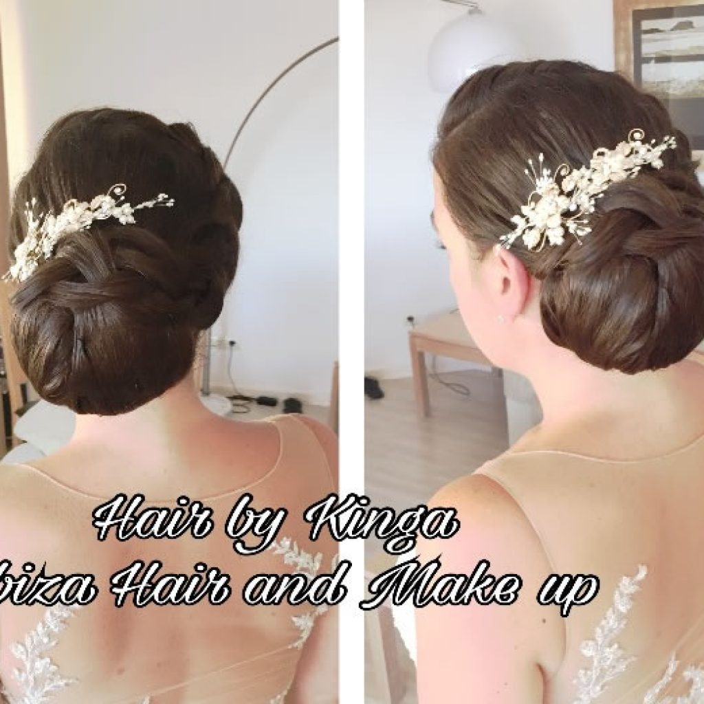 Classic chignon , Elixir shore bride , pancake braid , mobile hair service in San Antonio