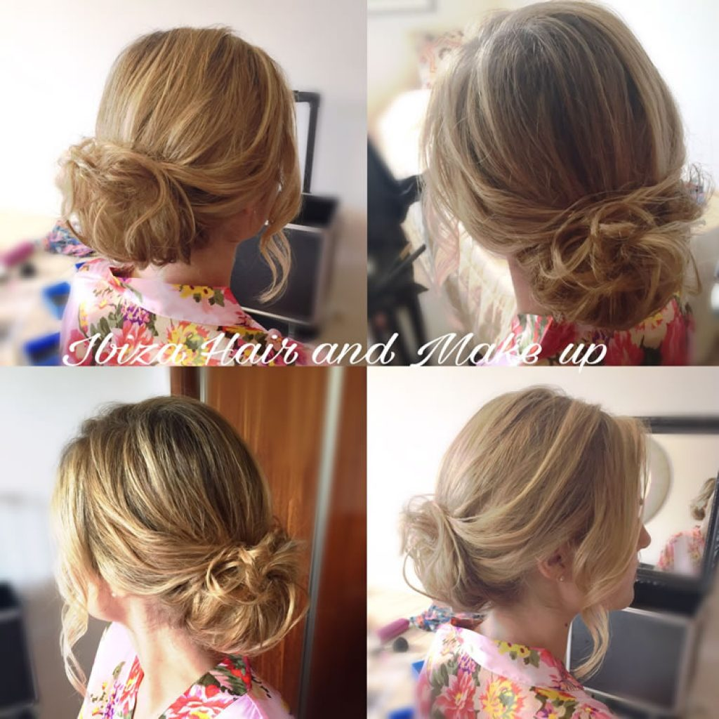 Beautiful loose up do by Kinga Ibiza Hair and Make up. Extra hair bun was used to add volume to fine hair