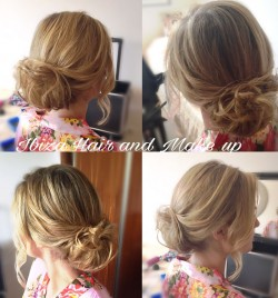 Styling from dry hair, washed day before the appointment  is perfect for fine hair that are soft and flyaway. Here is the sample of bridesmaids hairstyle  turned into beautiful full of volume bridal bun at the back ,with a softly swept sides to give that romantic wedding look. Styled by Kinga