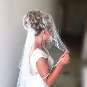 Cas Mila Bride, hair and make up , Kinga Evans