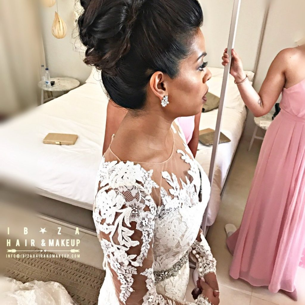Wedding Hairstyle on long hair by Kinga , director of Ibiza Hair and Make up