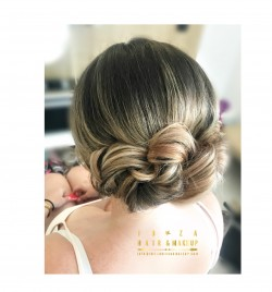 Wedding Hairstyle on long hair by Kinga , director of Ibiza Hair and Make up