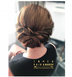Twisted low bun by Kinga , in private luxury  villa Casablanca / White Caps ,in Es Canara