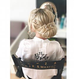Ibiza Bride hair and make up , hair by Kinga , location Cala Tarida , wedding at Elixir