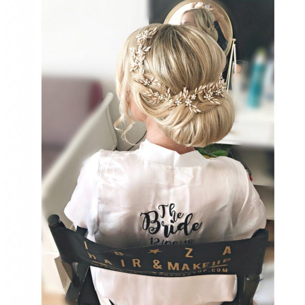 perfect wedding hairstyle , by kinga ibiza stylist