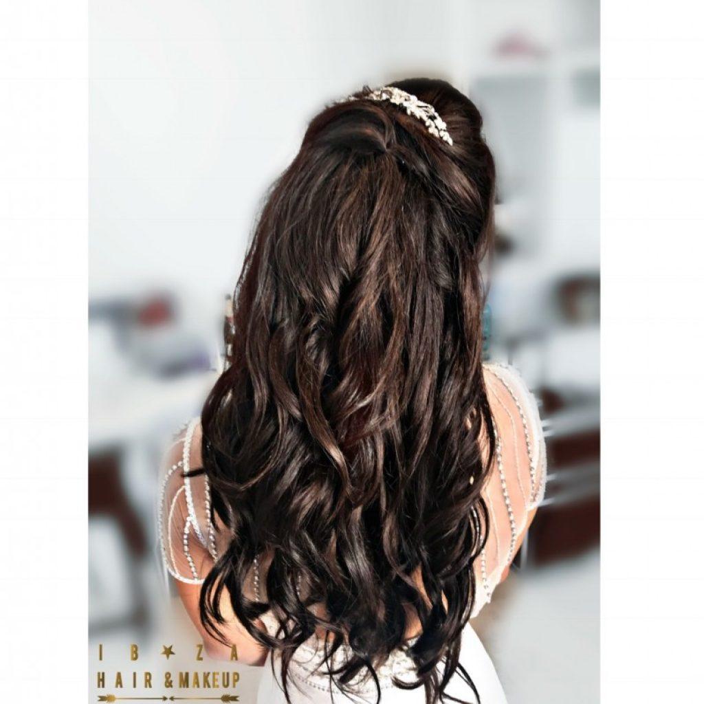 Bridal hair and make up by kinga and er senior make up artist , wedding at Aiyanna restaurant , Cala Llenya