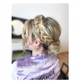 Gorgeous Bridesmaids hairstyle , with dutch braid , by Kinga