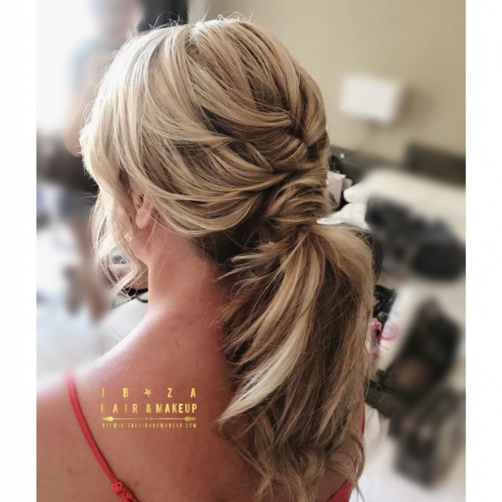 Beautiful long ponytail for Bride getting married at Elixir by Kinga Evans