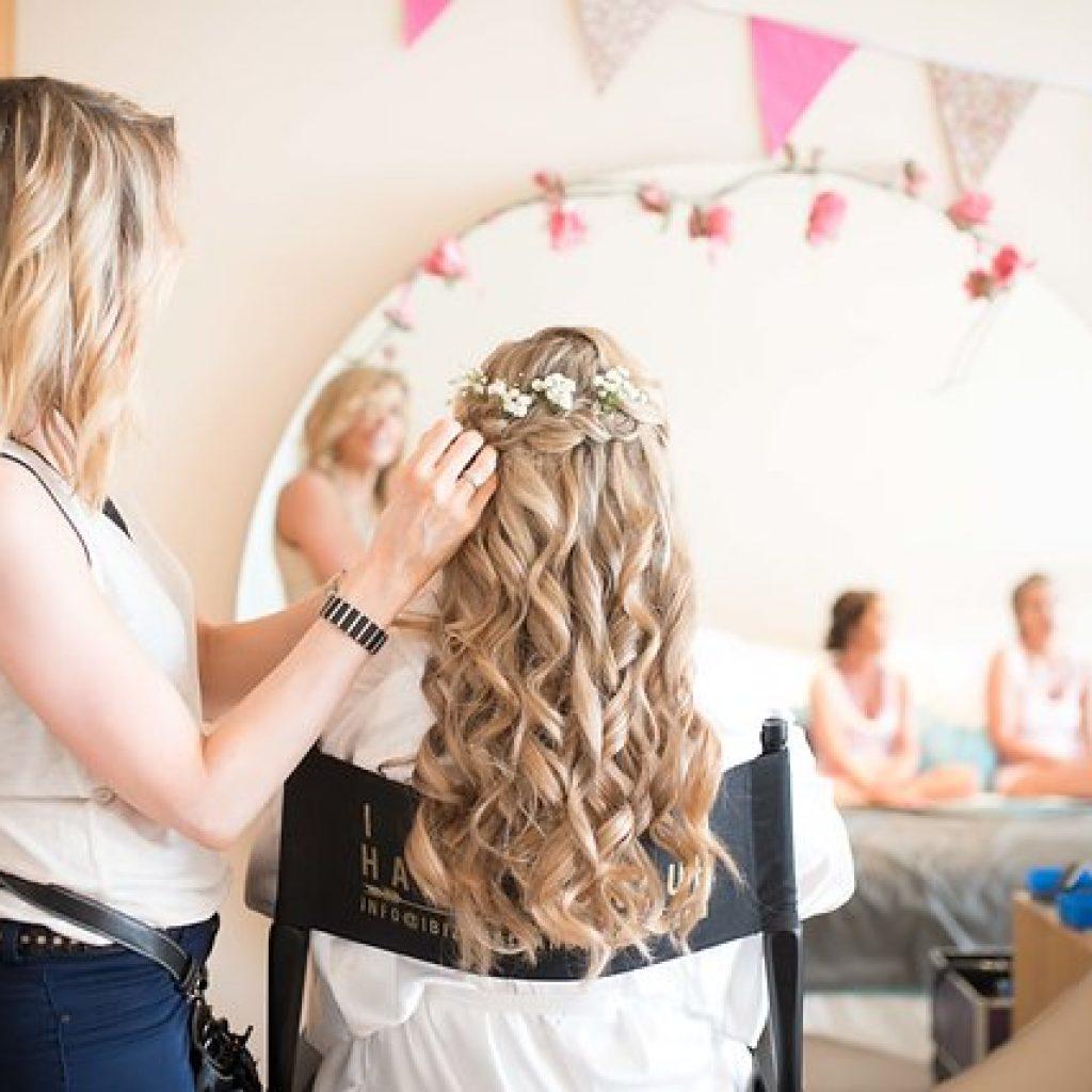 Aquas de Ibiza hair and make up , wedding stylist kinga evans